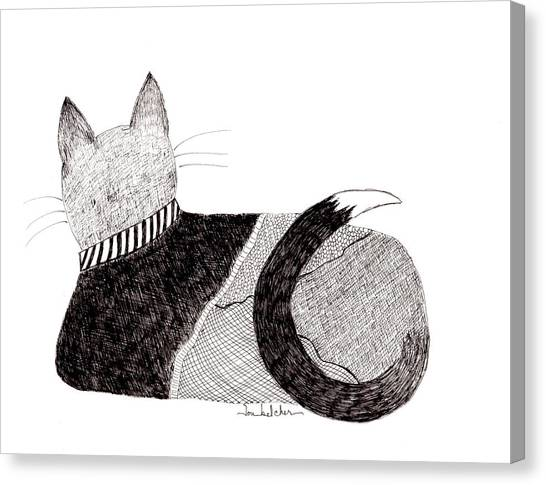 Sweater Cat Canvas Print