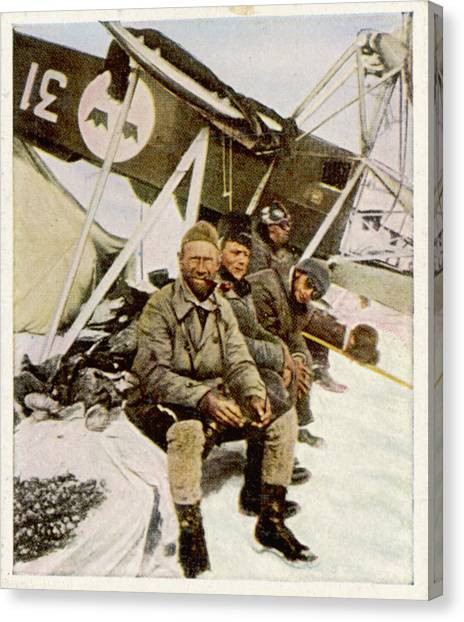 Swedish Aviator Lundborg, Who Canvas Print by Mary Evans Picture Library