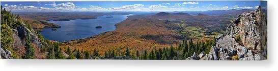 Sweeping Fall Panorama Over Lake Memphremagog Canvas Print