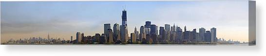 Sweeping Panorama Of New York City Before Sunset Canvas Print