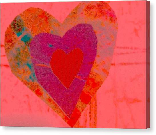 Sweet-candy-heart Canvas Print by Dorothy Rafferty