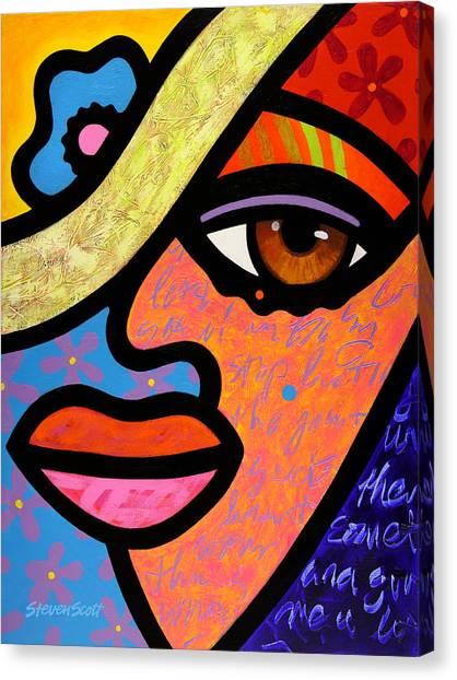 Sweet City Woman Canvas Print