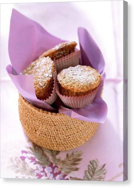 Sweet Tea Canvas Print - Sweet Courgette Muffins And A Cup Of Tea by Eising Studio - Food Photo and Video