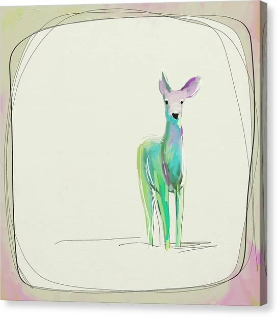 Limes Canvas Print - Sweet Deer by Cathy Walters