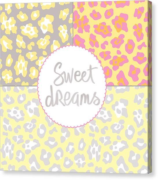Wedding Gift Canvas Print - Sweet Dreams - Animal Print by Linda Woods