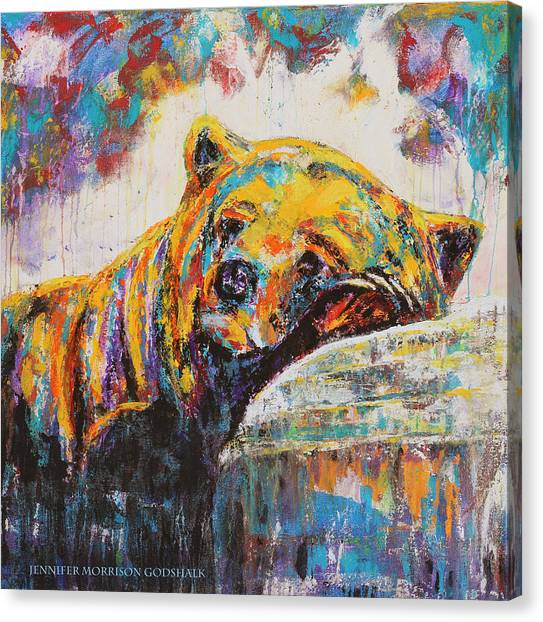 Sweet Dreams Bear Canvas Print