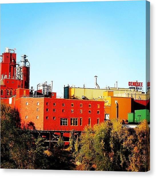 Factories Canvas Print - Sweet Genny by Justin Connor
