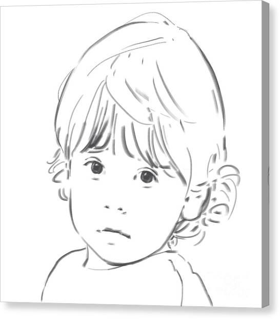 Sweet Girl Canvas Print