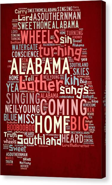 Sweet Home Alabama 4 Canvas Print