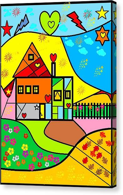 Sweet Home By Nico Bielow Canvas Print