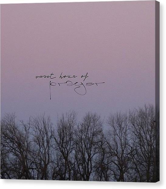 Pastel Canvas Print - Sweet Hour Of Prayer  Sweet Hour Of by Traci Beeson