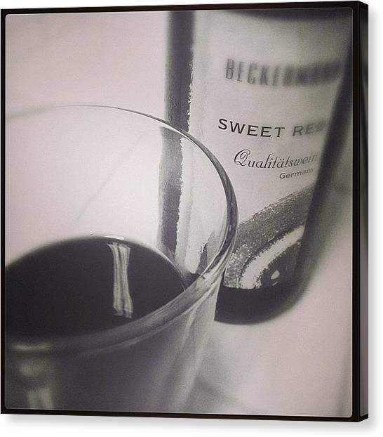 Red Wine Canvas Print - Sweet Indeed. #red #wine #time #evening by Katie Dyck