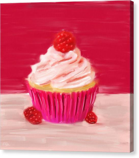 Cupcake Canvas Print - Sweet Indulgence by Lourry Legarde