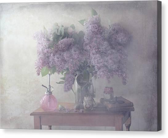 Desks Canvas Print - Sweet Lilacs by Delphine Devos