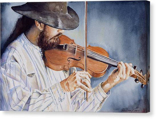 Fiddling Canvas Print - Sweet Serenade by Don Dane