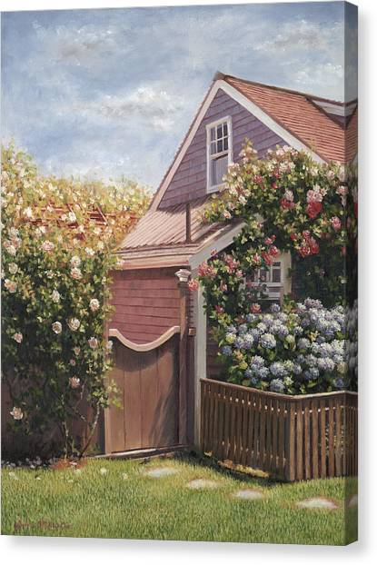 Marthas Vineyard Canvas Print - Sweet Summer Sconset by Julia O'Malley-Keyes