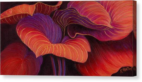 Canvas Print featuring the painting Sweet Tarts by Sandi Whetzel
