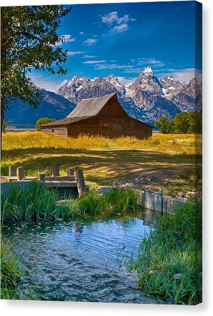 Sweet Teton Morning Canvas Print