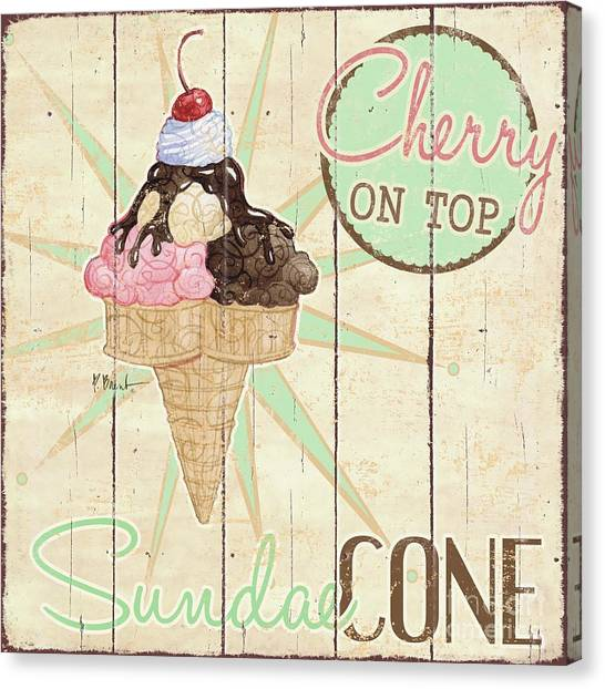 Ice Canvas Print - Sweet Treat Signs II by Paul Brent