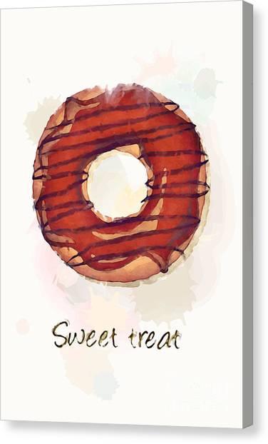 Doughnuts Canvas Print - Sweet Treat.jpg by Jane Rix