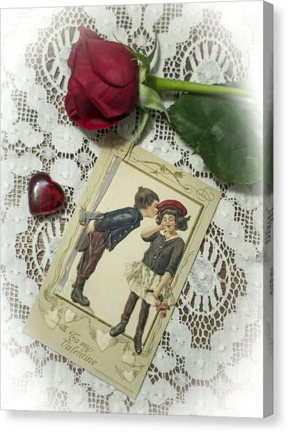 Sweet Valentine Couple Canvas Print