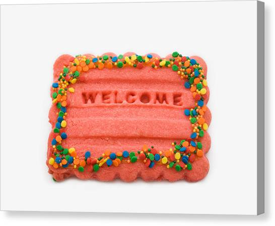 Sweet Welcome Mat Canvas Print