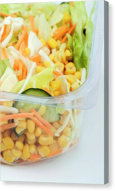 Salad Canvas Print - Sweetcorn Salad by Uk Crown Copyright Courtesy Of Fera/science Photo Library