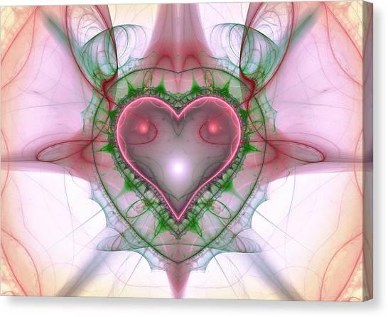 Sweetheart Fractal Canvas Print