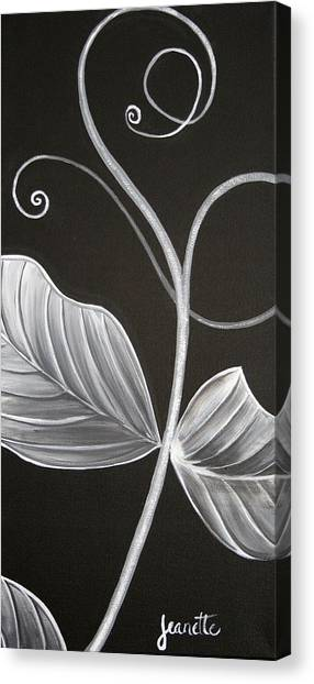 Sweetpea Vine Canvas Print