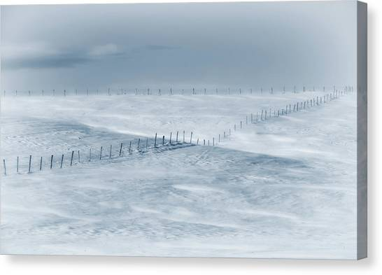 Wind Farms Canvas Print - Swept By The Wind by Christian Duguay