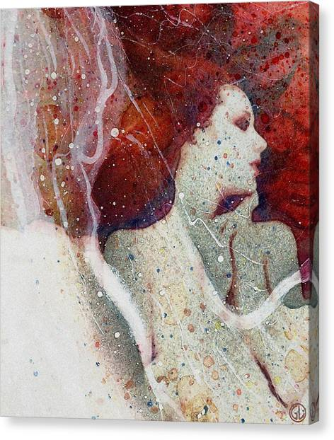 Swept In A Bubbly Dream Canvas Print
