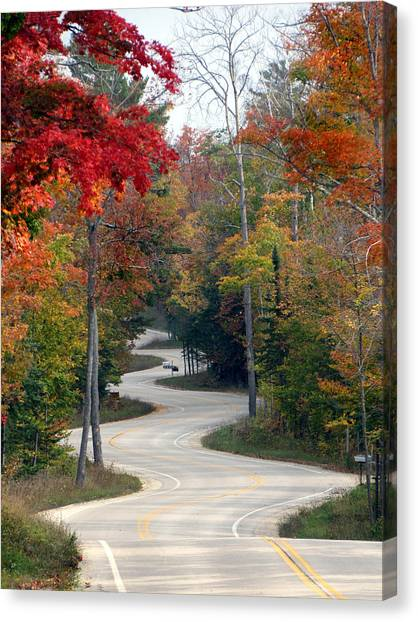 Swervy Road At North Port Canvas Print