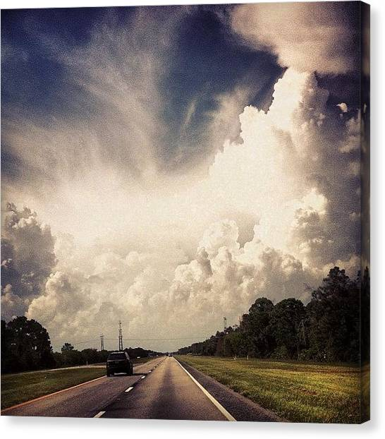 Rainclouds Canvas Print - #swfl  Is Racking The Cloud Shows Off by Michelle Huey