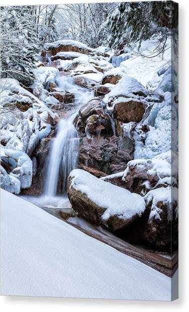 Swiftwater Falls Winter Canvas Print