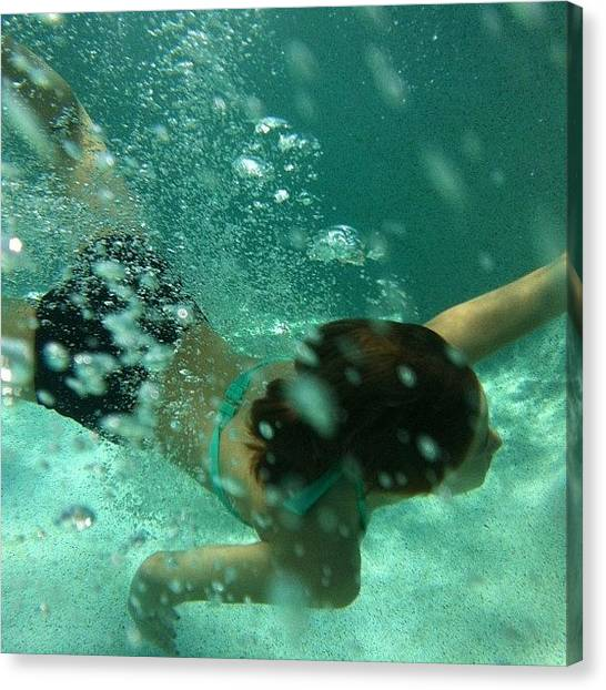 Spam Canvas Print - ~swim~ #insta #instagram  #spam #daily by Zoe Sutter