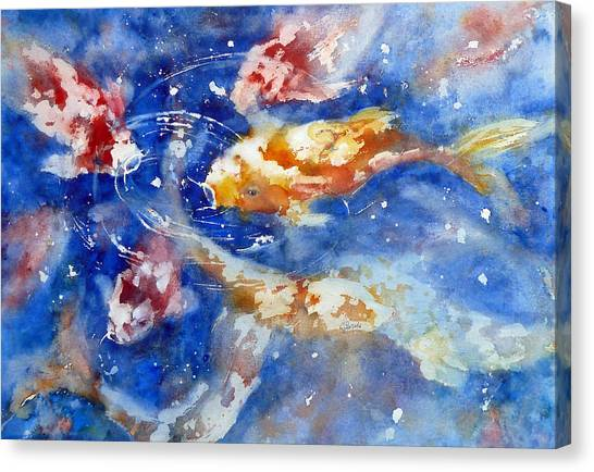 Swimming Koi Fish Canvas Print