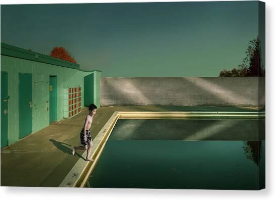 Swimming Canvas Print - Swimming Pool by Fang Tong