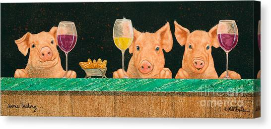 Swine Tasting... Canvas Print