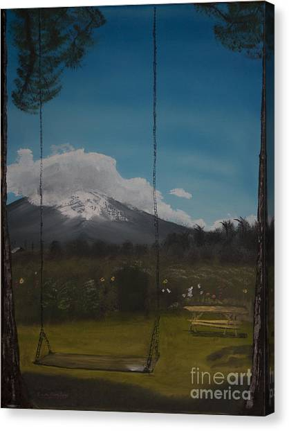 Swing On Mt Hoods Fruit Loop Canvas Print
