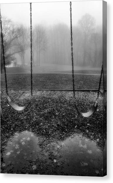 Swing Seats I Canvas Print by Steven Ainsworth