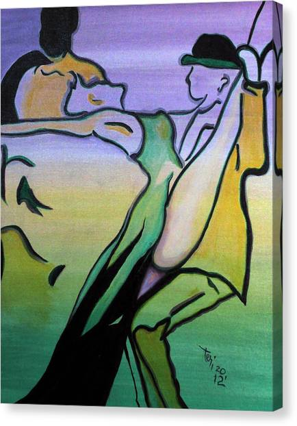 Swingin Canvas Print by Teri Howard Stewart
