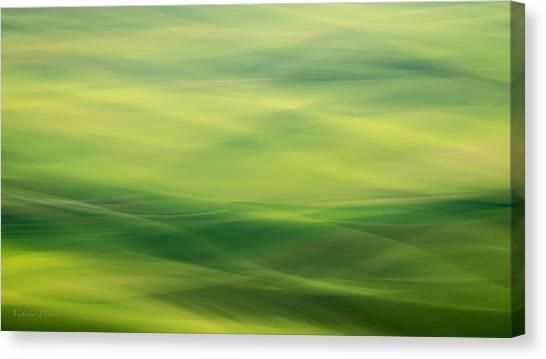 Swipe Of Palouse Rolling Hills Canvas Print