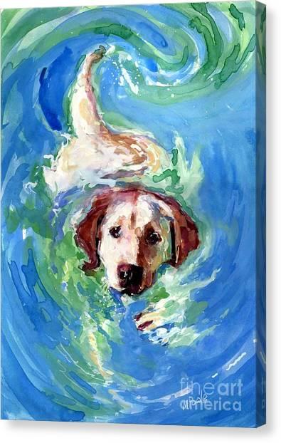 Swirl Pool Canvas Print