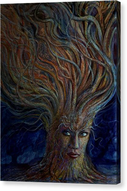 Imaginative Canvas Print - Swirling Beauty by Frank Robert Dixon