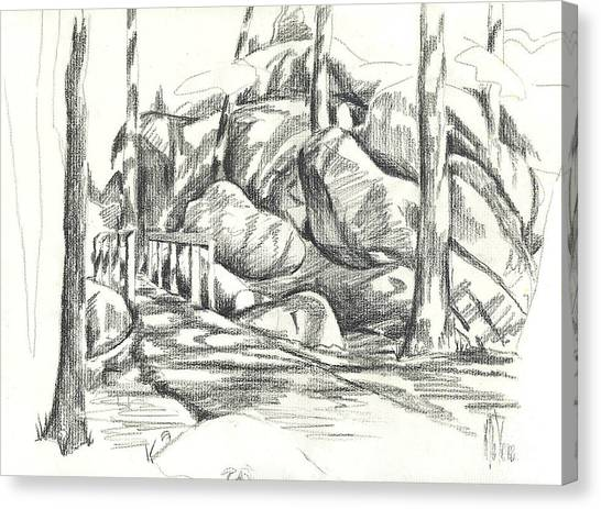 Swirling Cast Shadows At Elephant Rocks  No Ctc101 Canvas Print