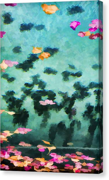 Swirling Leaves And Petals 2 Canvas Print