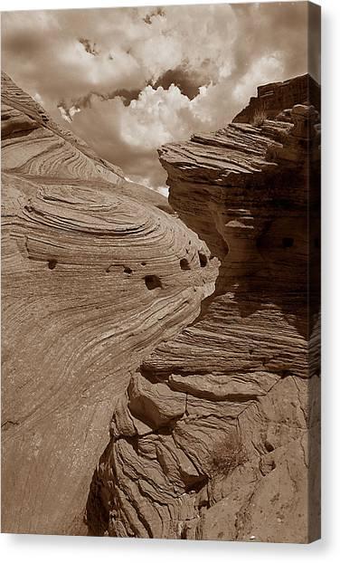Swirling Ledge Canvas Print