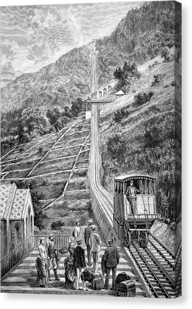 Pinion Canvas Print - Swiss Rack-and-pinion Railway by Bildagentur-online/tschanz