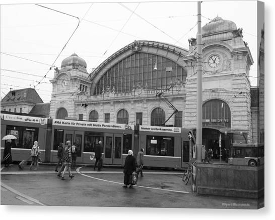Swiss Railway Station Canvas Print
