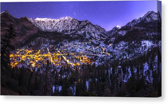 Night Canvas Print - Switzerland Of America by Taylor Franta